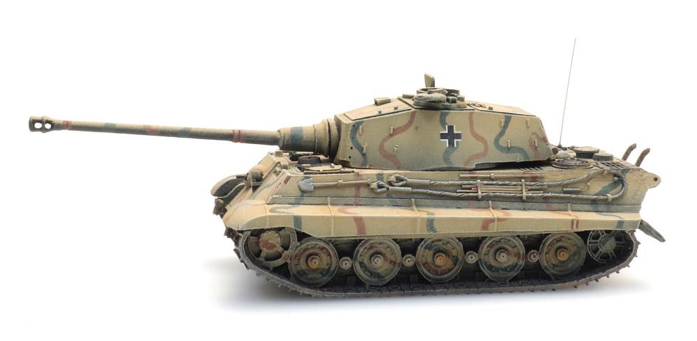 Tiger II Henschel, Camo, 1:87 kant en klaar resin, geverfd