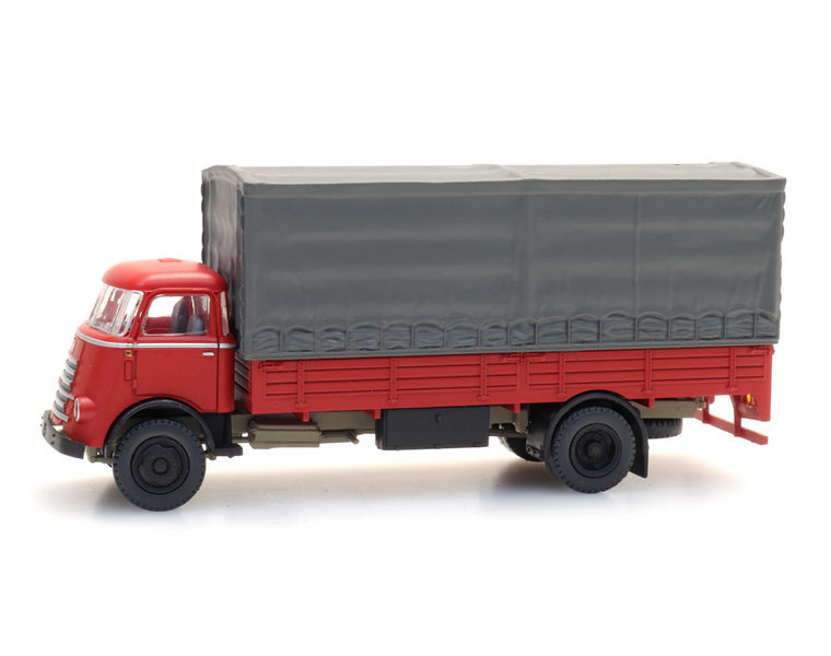 DAF cabin '55 with canvas cover, red