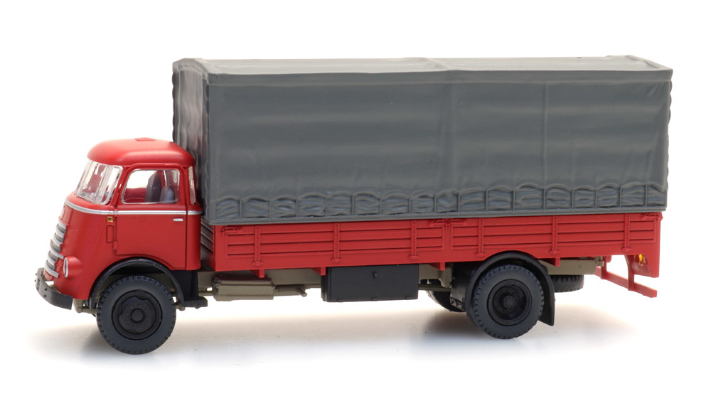 DAF cabine '55 met huif, rood