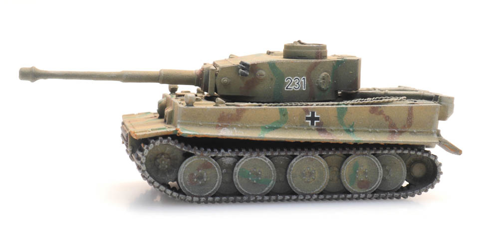 Tiger I gelb Eisenbahntransport
