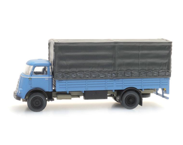 DAF cabine '59 met huif, blauw