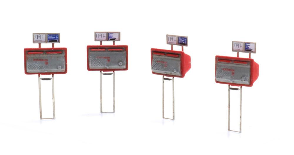 Briefkasten rot-grau (4x)