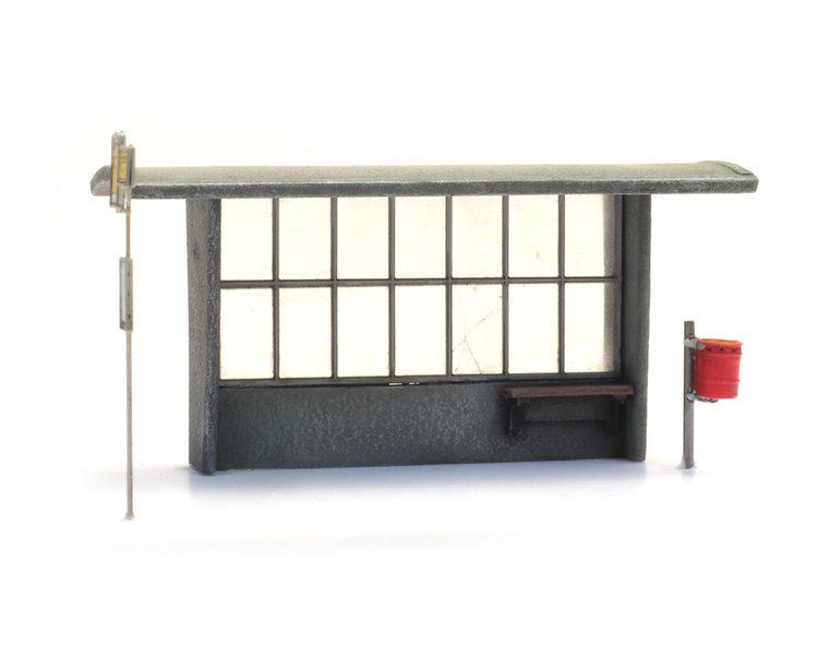 Wartehäuschen Beton für Bus und Zug (3x)
