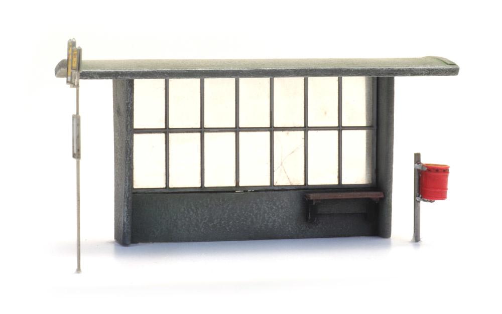 Abri beton voor bus en trein bouwpakket (3x)