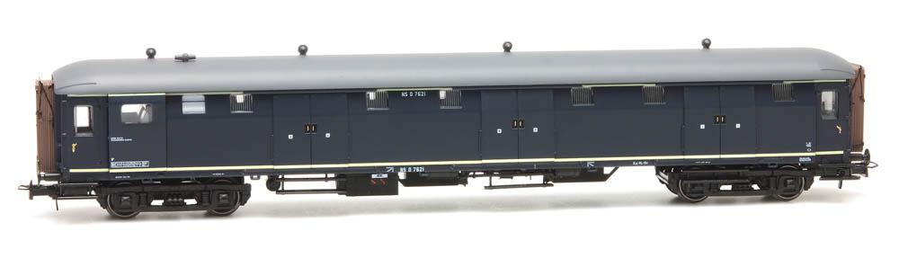 Stalen D 6-doors baggage car D 7621, blue