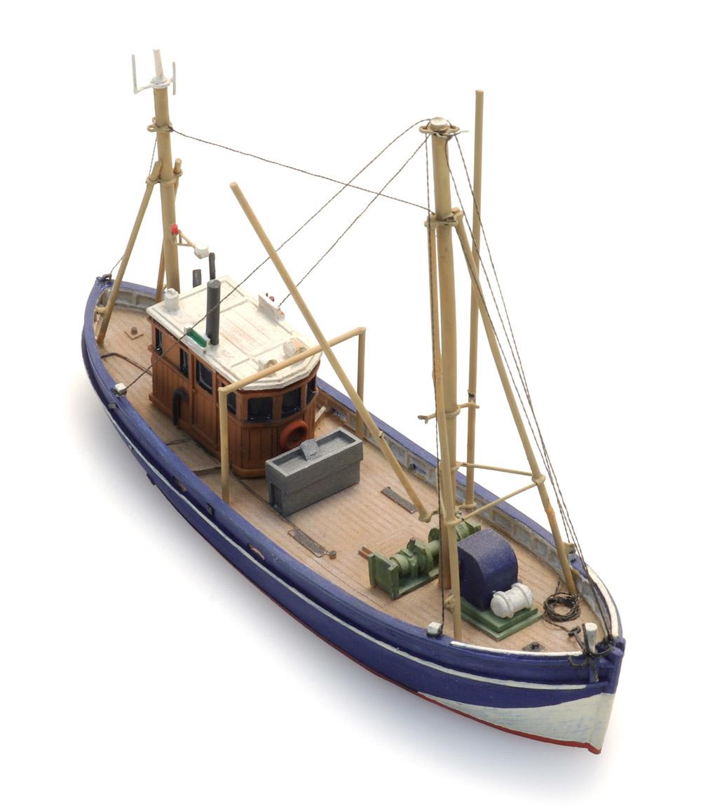NEU unlackiert Artitec 54.108-1:160: Krabbenkutter Bausatz Wasserlinie