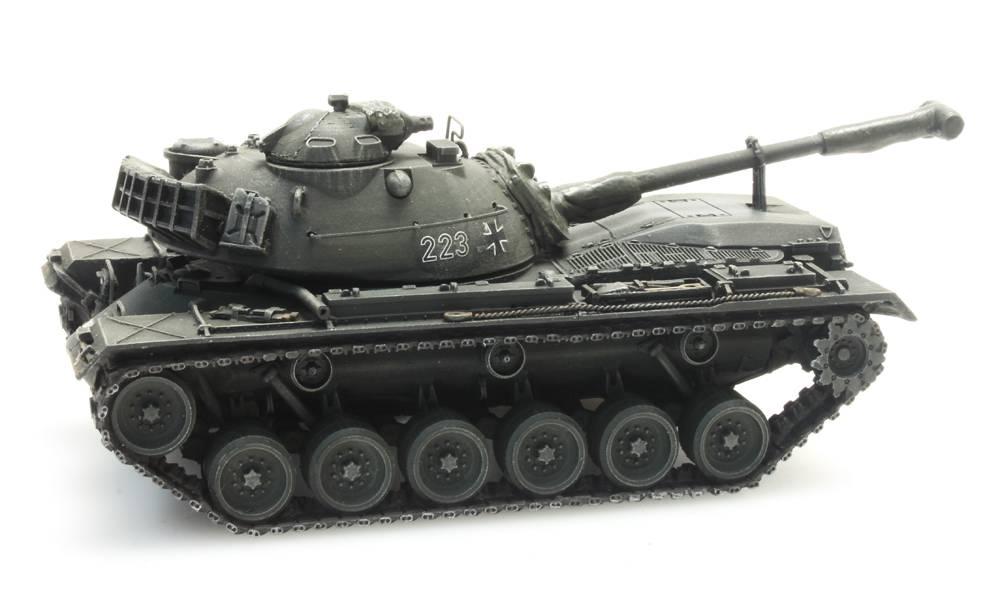 M48A2 Gelboliv voor treintransport Bundeswehr