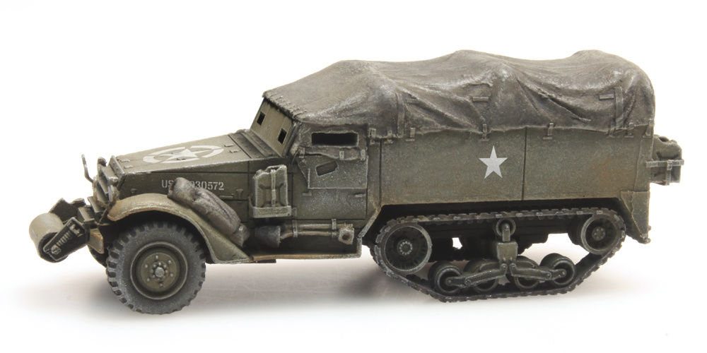 M3A1 half-track personnel carrier train load