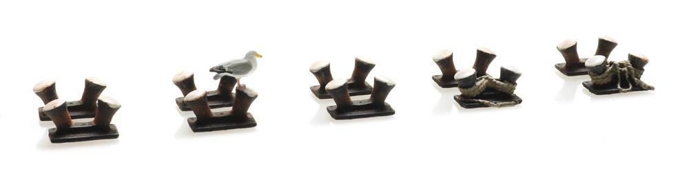 Dubbele bitt bollard (10x)