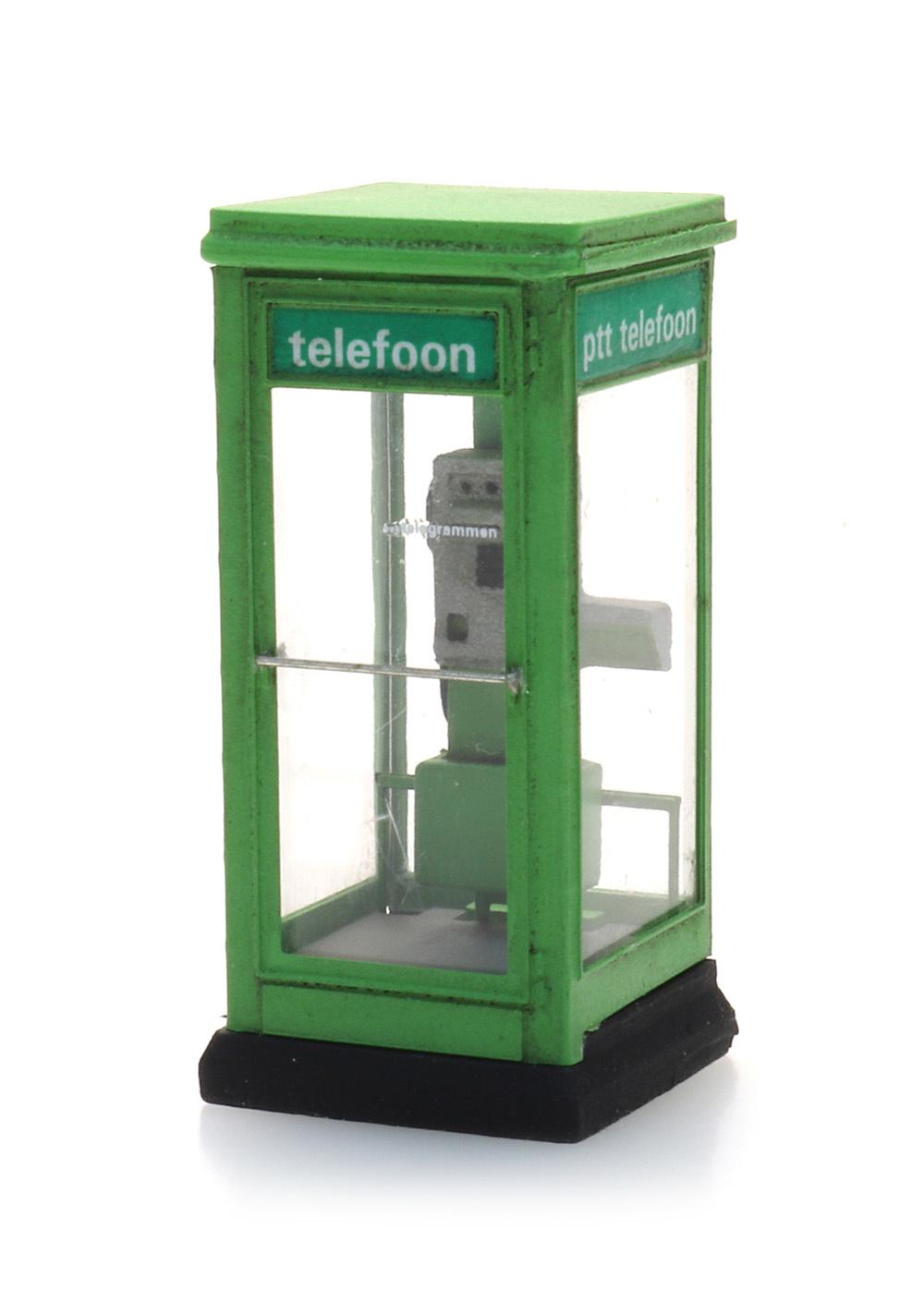 Telefonzelle PTT-Grün 80-90er Jahre