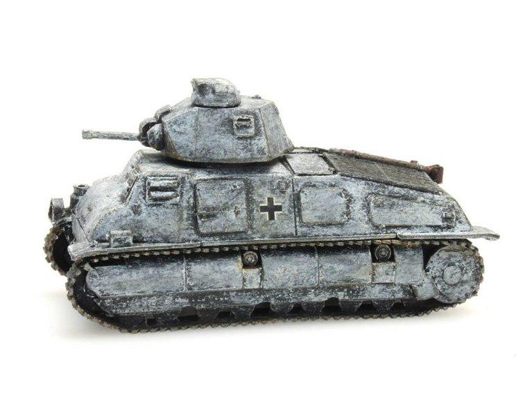 German Army captured Somua S-35, winter