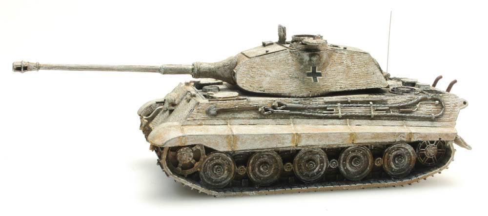 Tiger II Porsche, Zimmerit, Winter, 1:87 kant-en-klaar