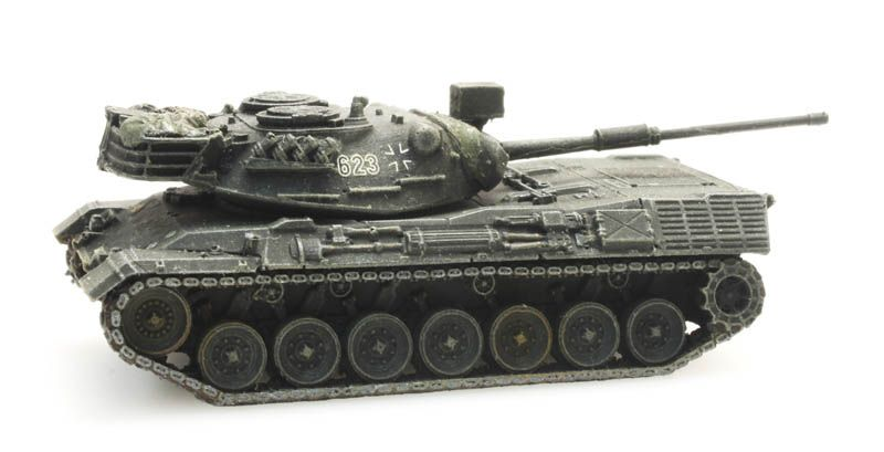 Bundeswehr Leopard 1 gelboliv Eisenbahntransport