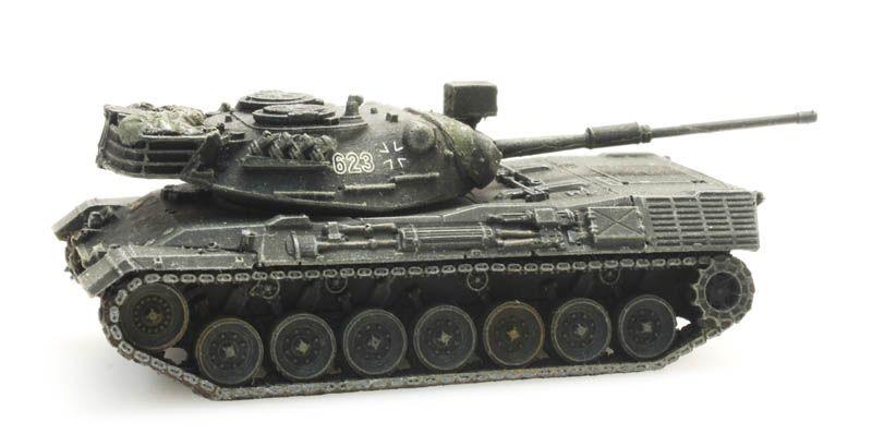 Leopard 1 Gelboliv voor treintransport Bundeswehr