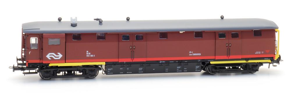 Ongevallenwagen NS 505-3, bruin, NS-logo, depot Eindhoven, IV