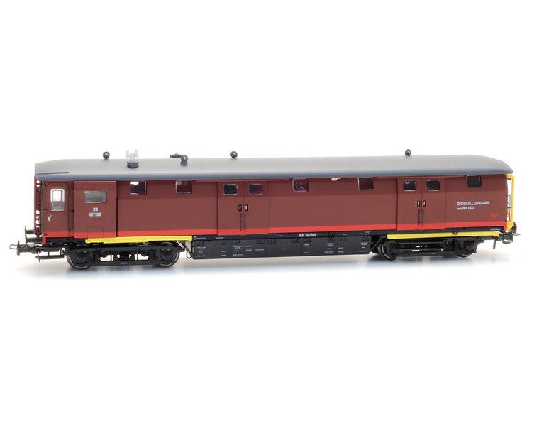 Ongevallenwagen NS 157106, bruin, depot Den Haag, III