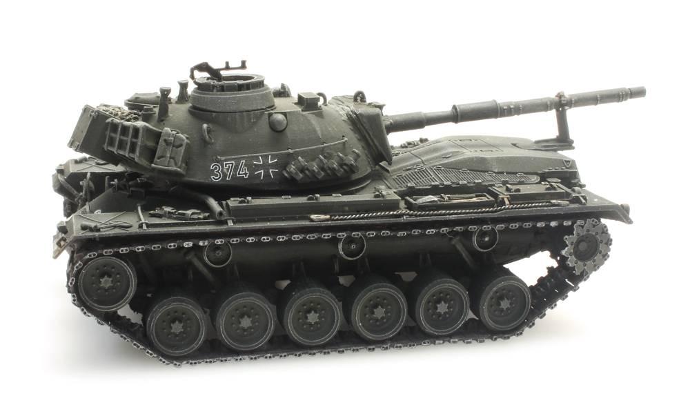 M48A2GA2 Gelboliv voor treintransport Bundeswehr