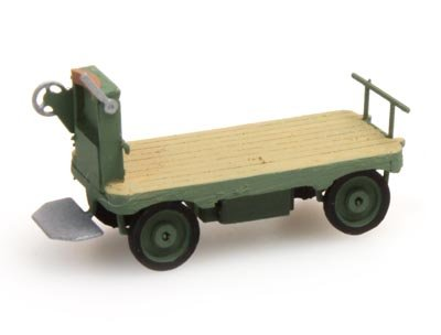 Luggage trolley green - 1:160 ready-made