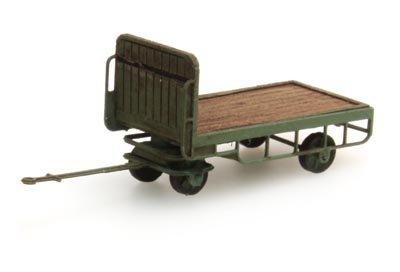 Anhänger für Bahnsteigkarre grün - 1:160 Fertigmodell
