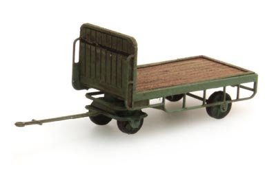 Luggage trailer green - 1:160 ready-made