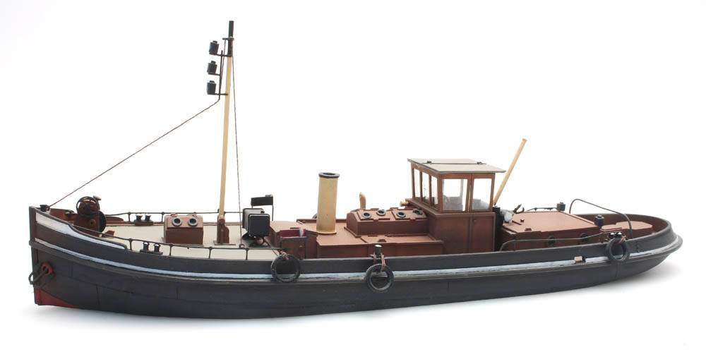 Canal steam tug - resin kit - 1:87