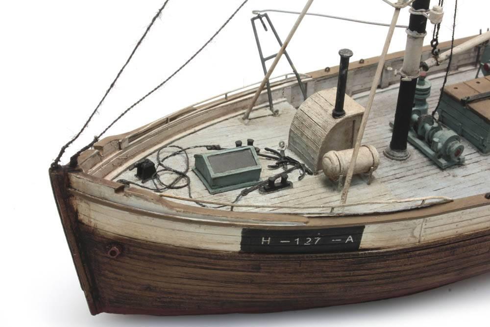 Norwegisches Fischerboot Framtid I Wasserlinie - Artitecshop