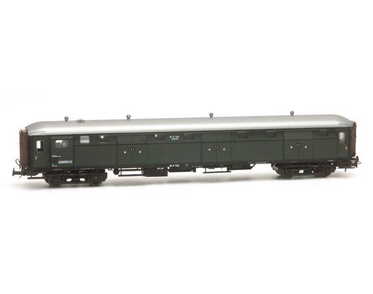 Stalen D 6-Türen Gepäckwagen D 7521 grün