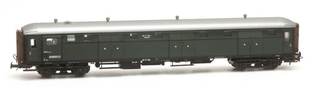 Stalen D 6-doors baggage car D 7521 green