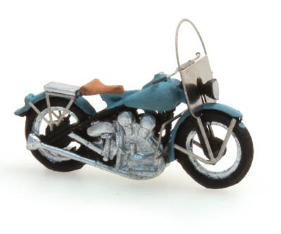 US motorcycle Liberator Zivil blau