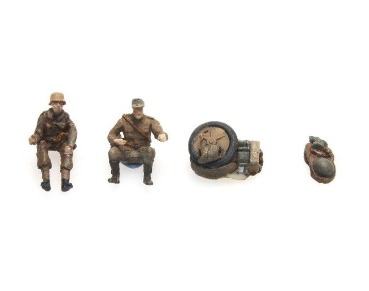 Kettenkrad crew und Bepackung Afrikakorps