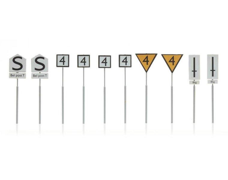 NS-borden: emplacementborden, 10 stuks