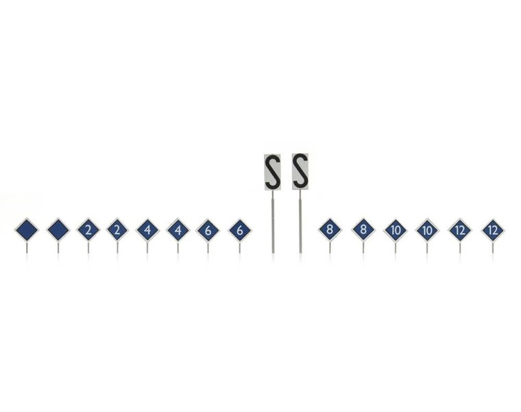NS-borden: perron stopplaatsborden 16 stuks