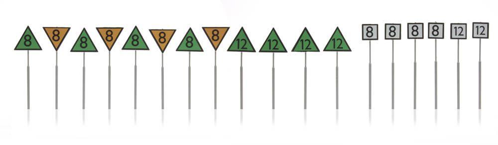 Dutch railway signs speed 18 pieces