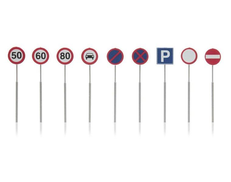 NL-verkeersborden: snelheid, verbod 9 stuks