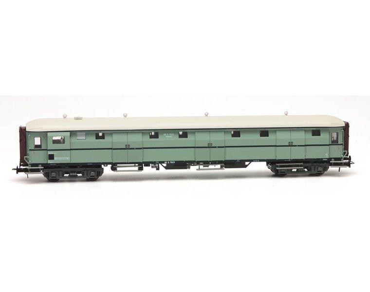 Stalen D 6-doors baggage car D 7523 turquoise