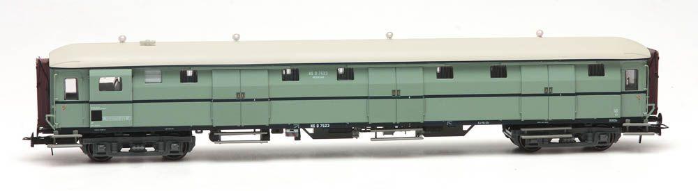 Stalen D 6-Türen Gepäckwagen D 7523 Türkis