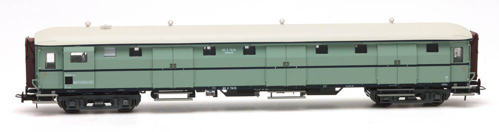Stalen D 6-doors baggage car D 7625 turquoise