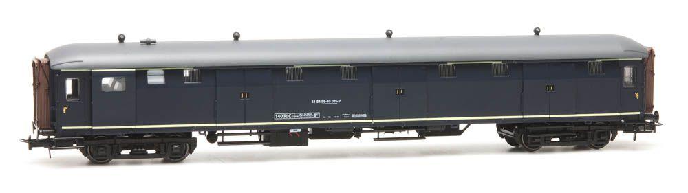 Stalen D 6-Türen Gepäckwagen 51 84 95-40 025-2, blau