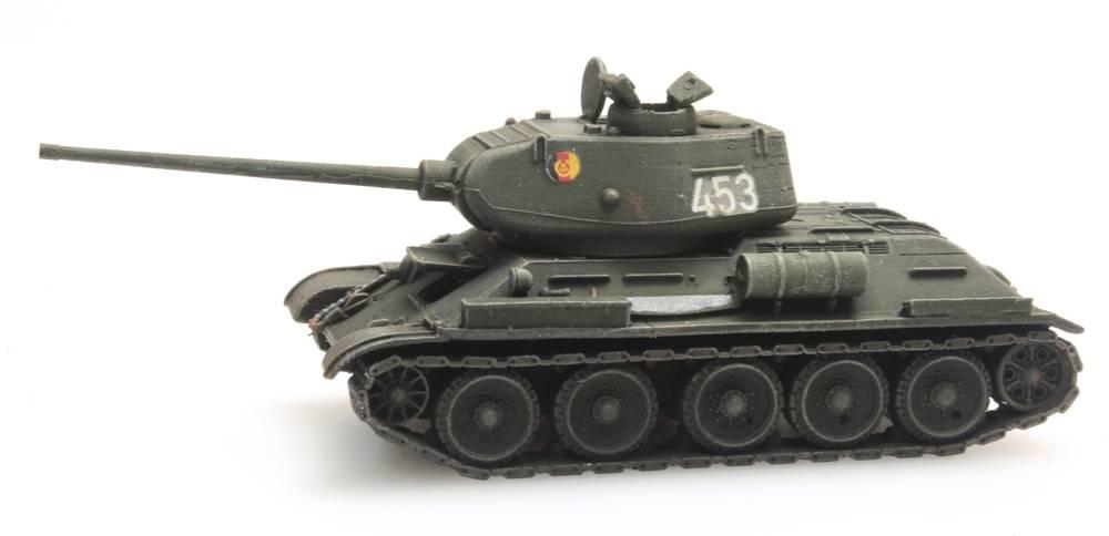 T34-85mm Gun Soviet Army/GDR, 1:120 kit