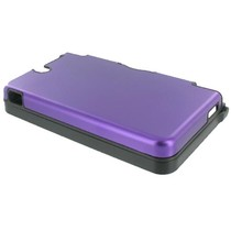Paarse aluminium beschermhoes voor de Nintendo DSi XL