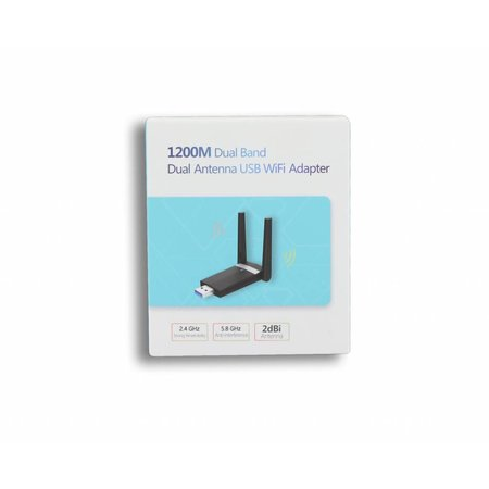 USB 3.0 AC1200 Dual Band WiFi Dongle 300Mbit en 866.7Mbit
