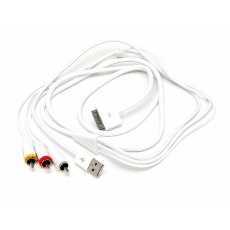 AV kabel voor iPhone/iPad/iPod met USB voeding