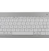 Draadloos universeel Bluetooth toetsenbord Zilver/Wit