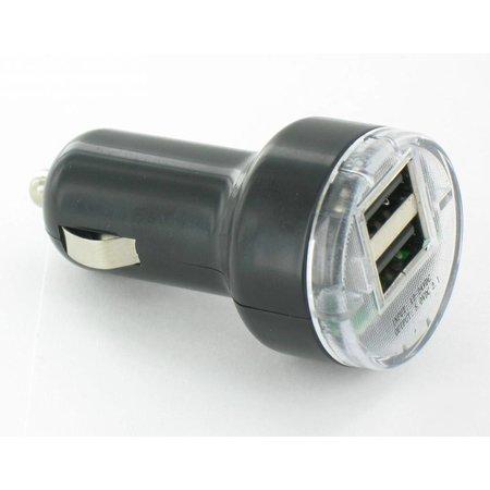 Autolader met twee USB Type-A poorten – 2.1A – 12V