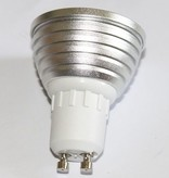 GU10 RGB LED Spot met afstandsbediening - 3Watt - Dimbaar