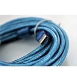 Type-A USB-Verlengkabel (Male->Female) - 5 meter - Blauw