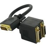 DVI-D Dual Link 24+1 Splitter Adapter