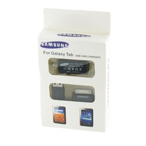 Auto lader + data kabel voor Samsung Galaxy Tab 10.1