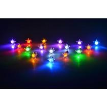 LED Oorbellen Set Met Ster Roze