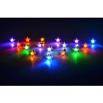 LED Oorbellen Set Met Ster Groen